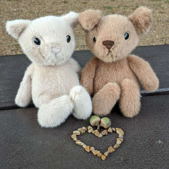 Fuzzle Kitten and Puppy from Jellycat