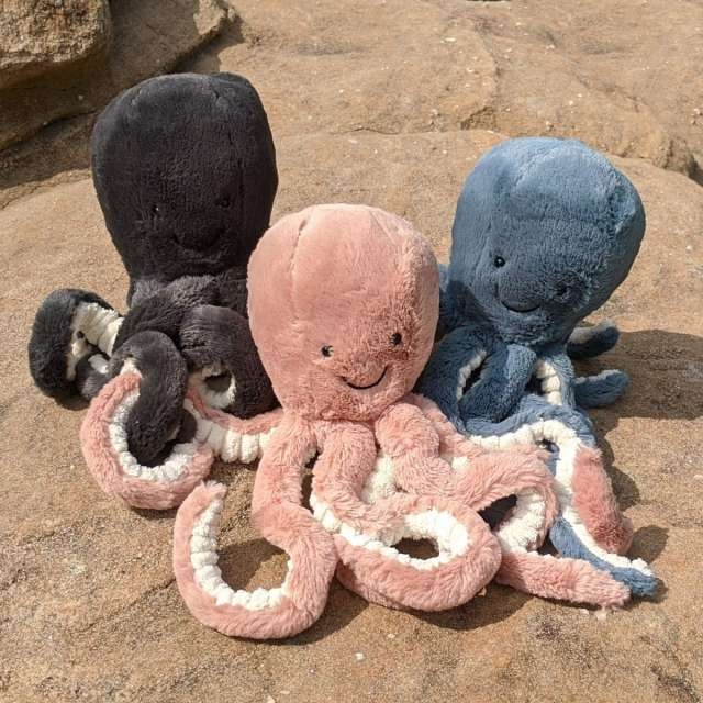 Odell, Inky, and Storm Octopuses from Jellycat