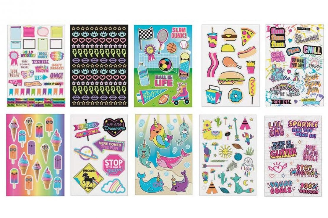 1000+ Totally Rainbow Super Colorful Fun Stickers from Fashion Angels