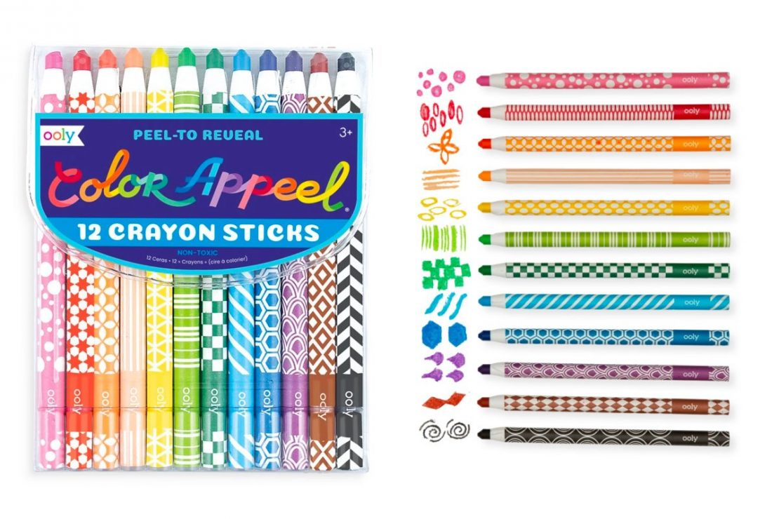Color Appeel 12 Peel To Reveal Crayon Sticks from Ooly