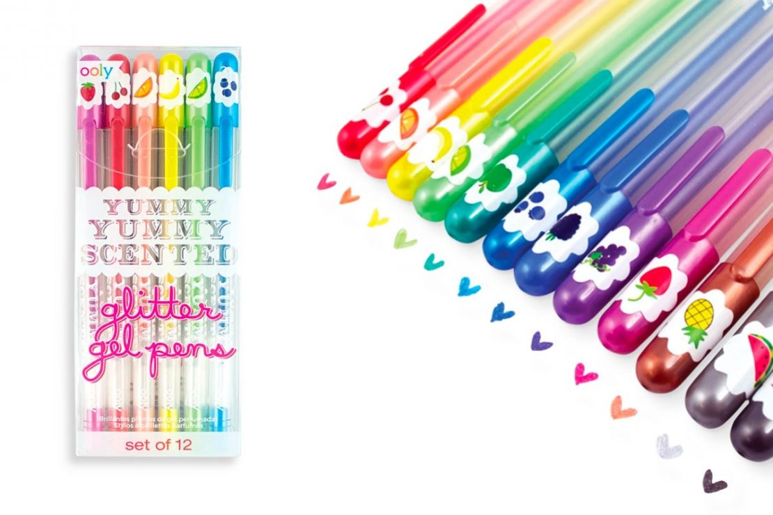 Yummy Yummy Scented 12 Glitter Gel Pens from Ooly