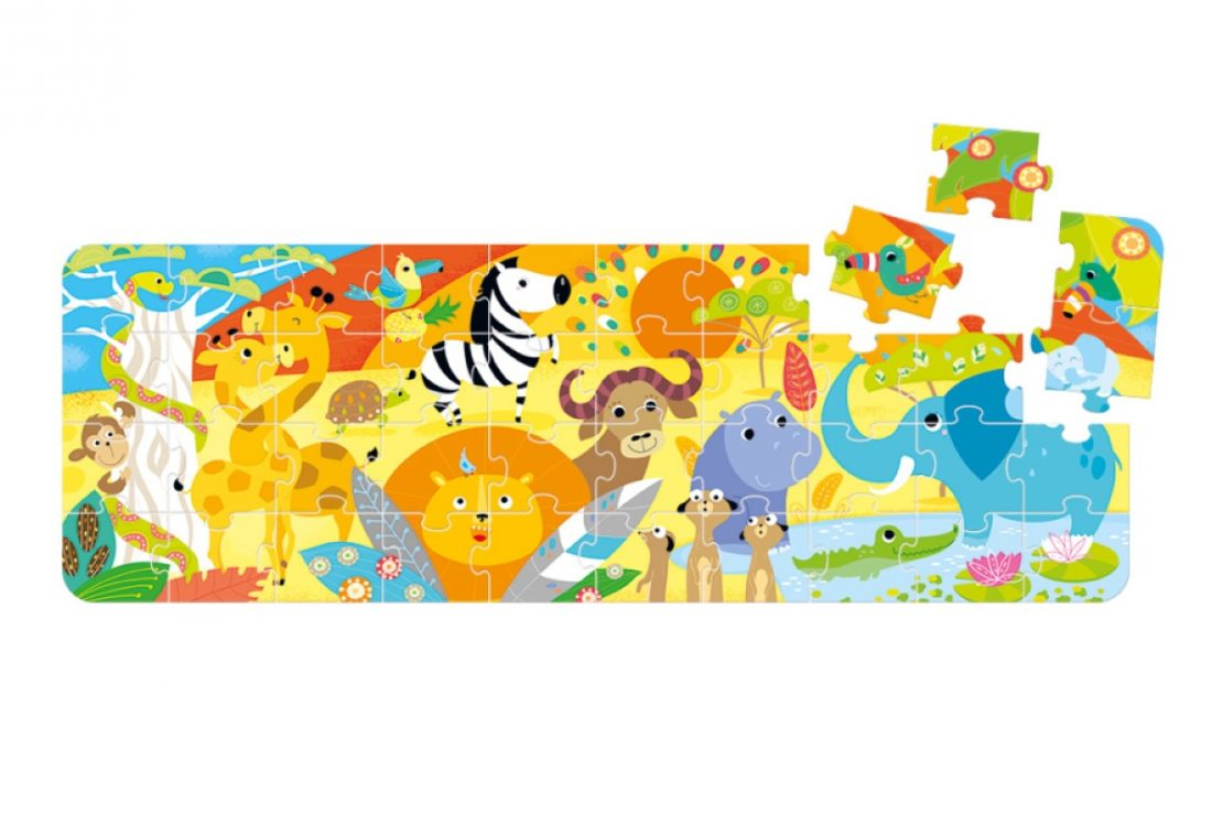 Safari Banana Panda Looong Puzzle