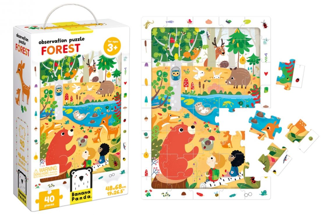 Forest Banana Panda Observation Puzzle