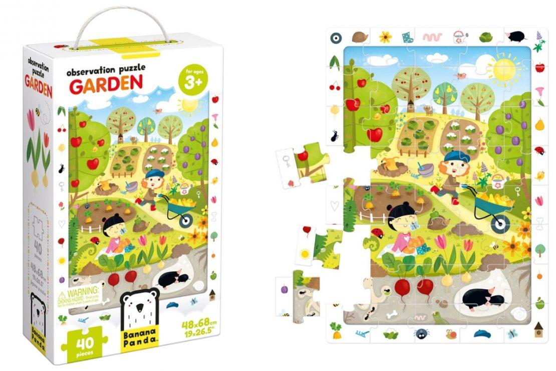 Garden Banana Panda Observation Puzzle