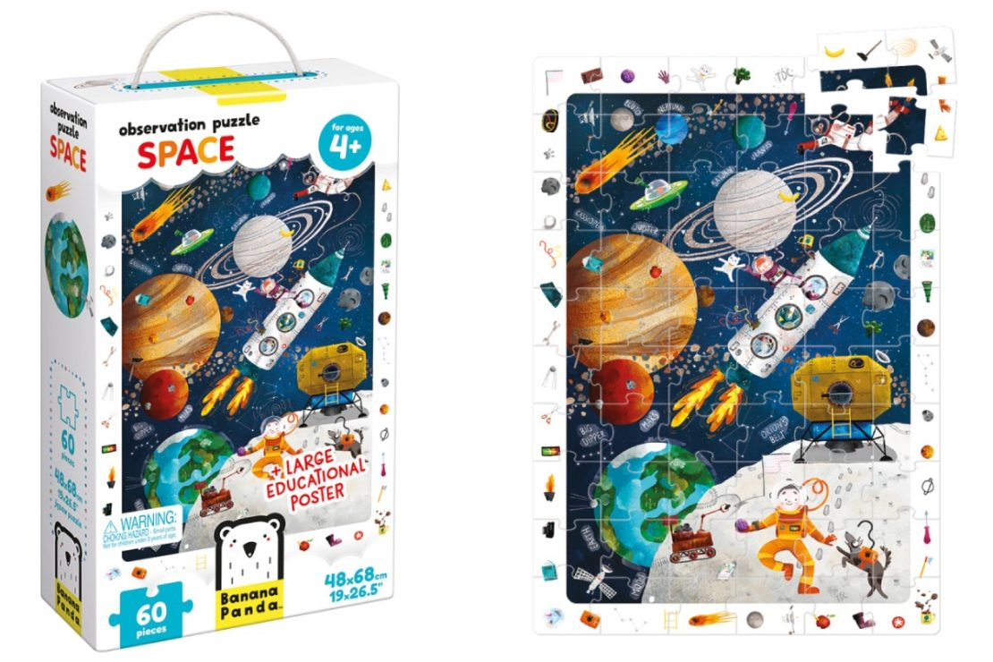 Space Banana Panda Observation Puzzle