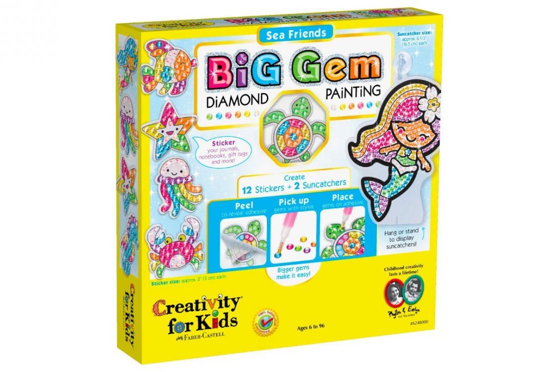 Sea Friends Big Gem Diamond Painting from Creativity for Kids