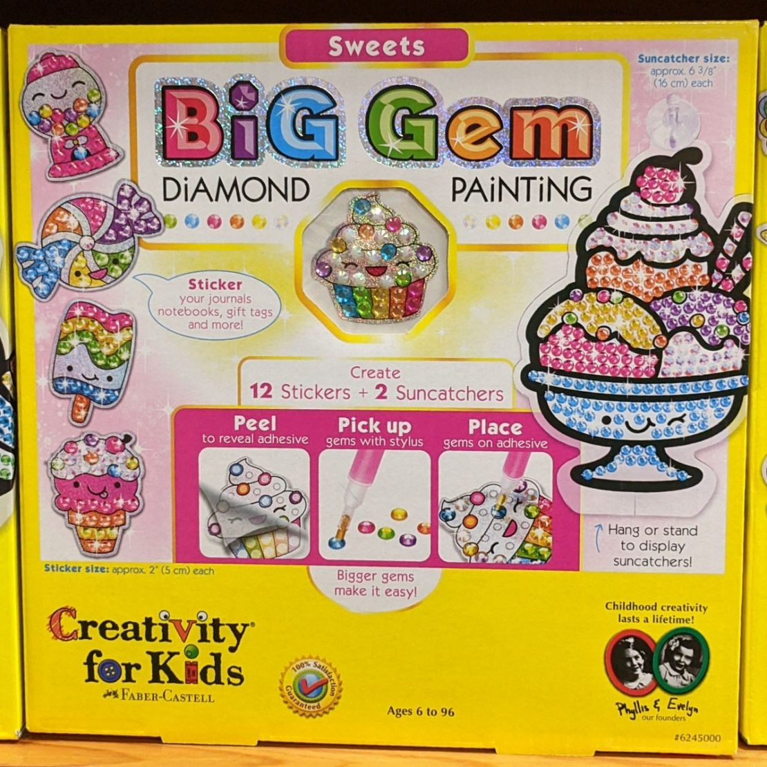 Sweets Big Gem Diamond Painting from Creativity for Kids
