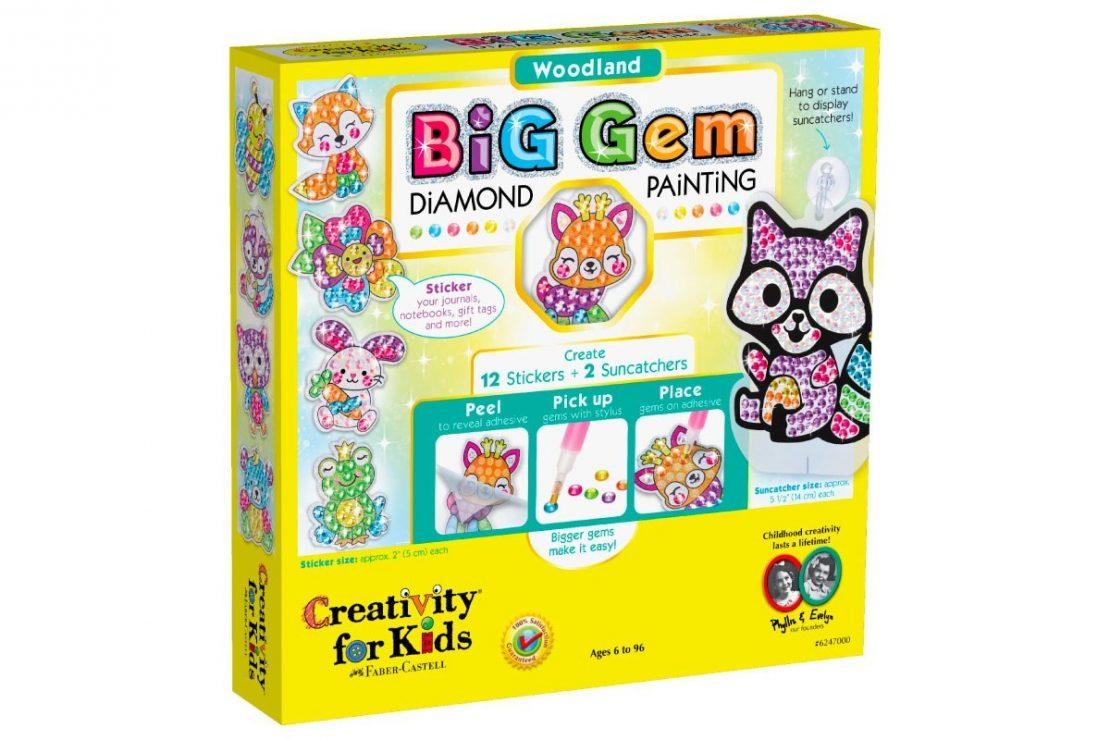 Woodland Big Gem Diamond Painting from Creativity for Kids
