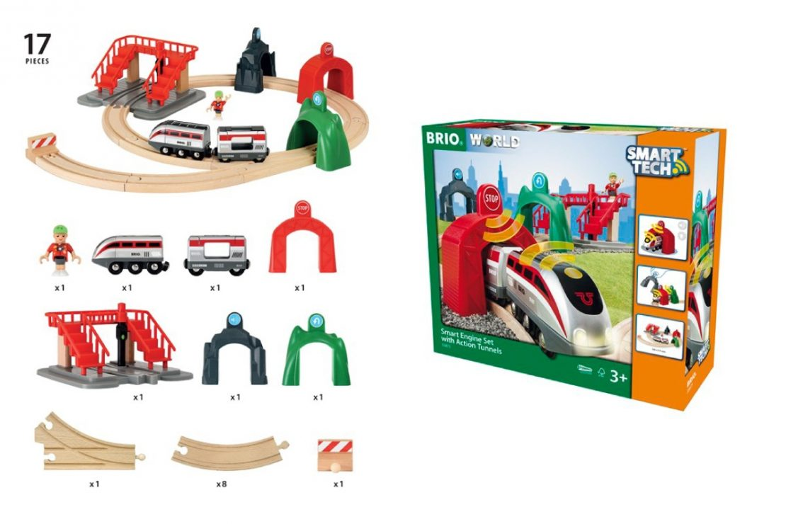 Brio SmartTech Smart Engine Set with Action Tunnels Contents