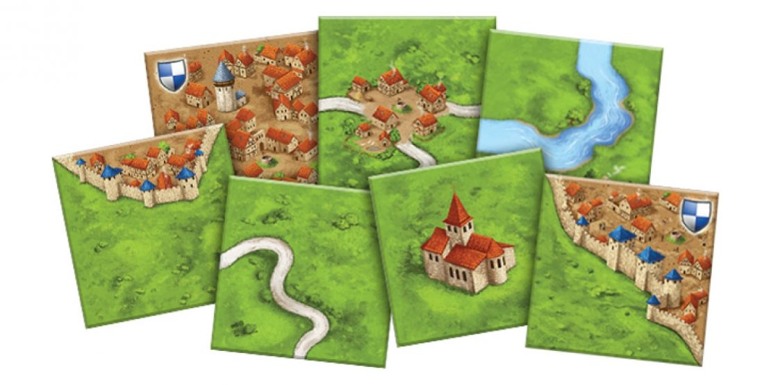 Carcassonne with The River & The Abbot Expansions from Z-Man Games