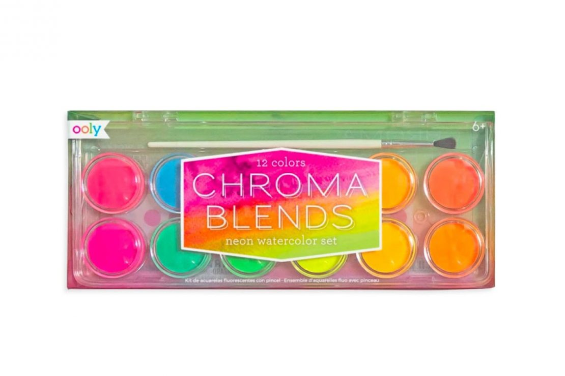 12 Neon Chroma Blends Watercolor Set