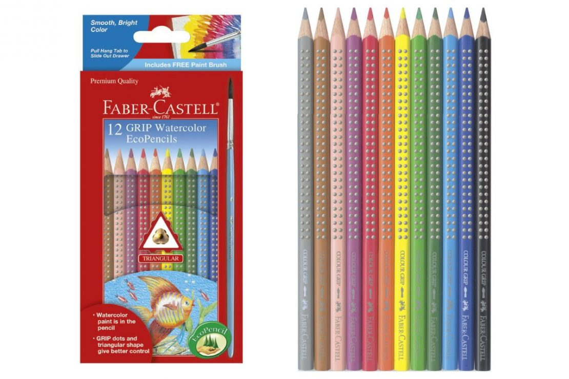 12 Watercolor EcoPencils from Faber-Castell