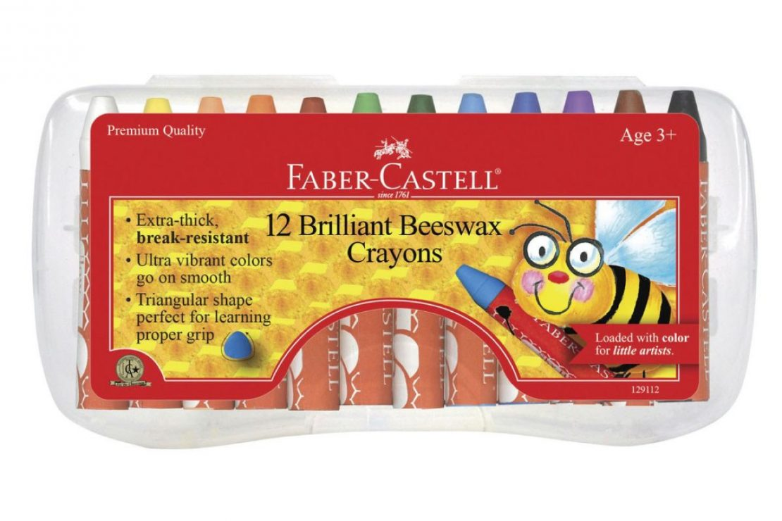 12 Faber-Castell Beeswax Crayons