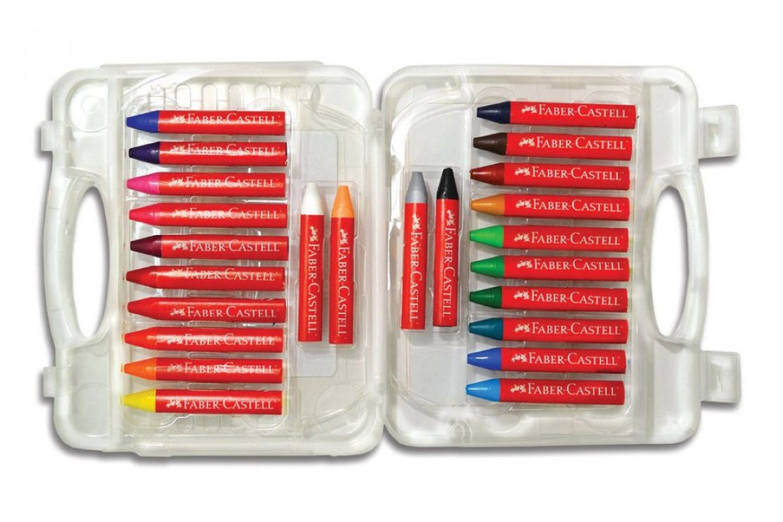 24 Faber-Castell Beeswax Crayons