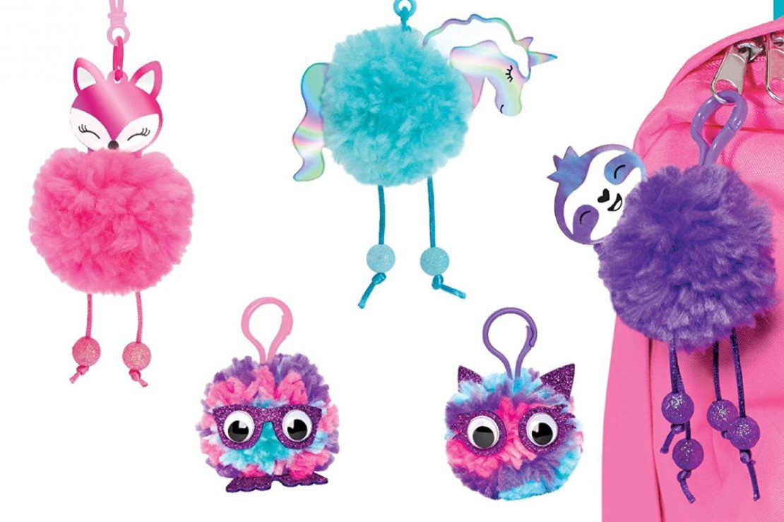 Creativity for Kids Magical Pom Pom Keychains Craft Kit