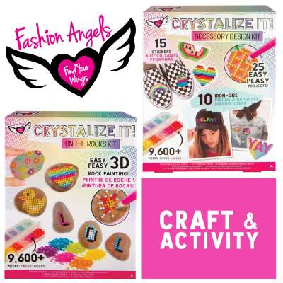 Crystalize It Sparkly gem painting patches & stickers from Fashion Angels
