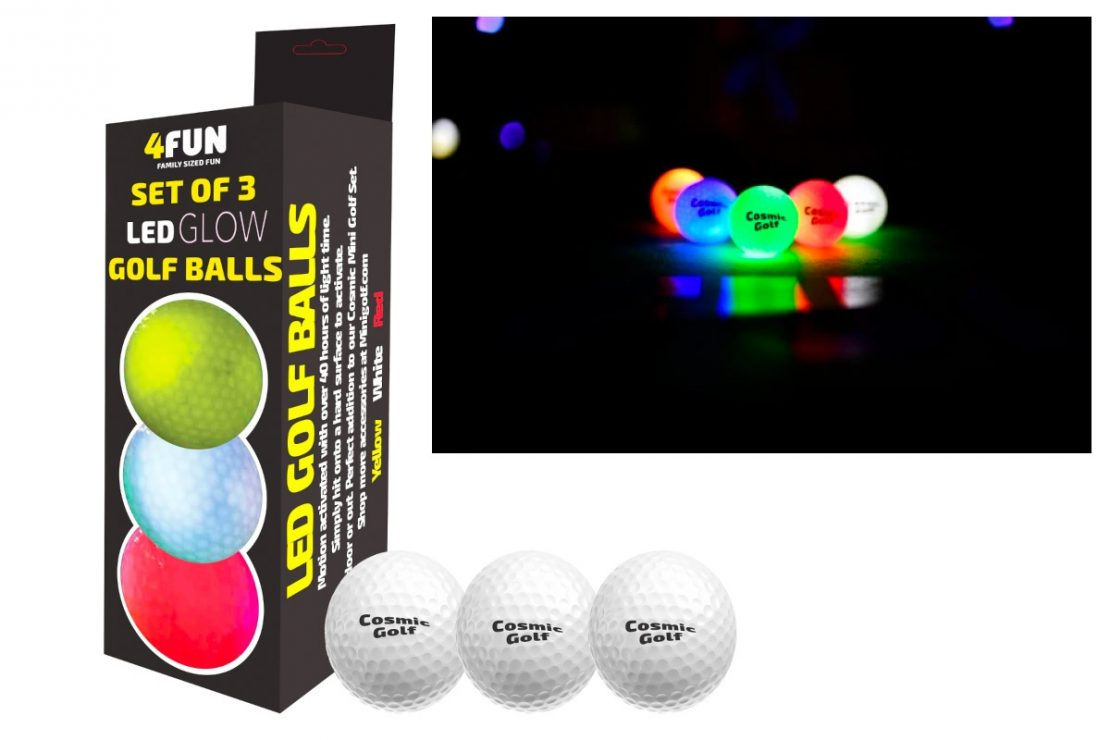 LED Glow Golf Balls Set of 3 from 4Fun by B4Adventure