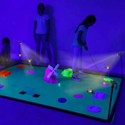 Deluxe Cosmic Glow Mini Golf from 4Fun by B4Adventure