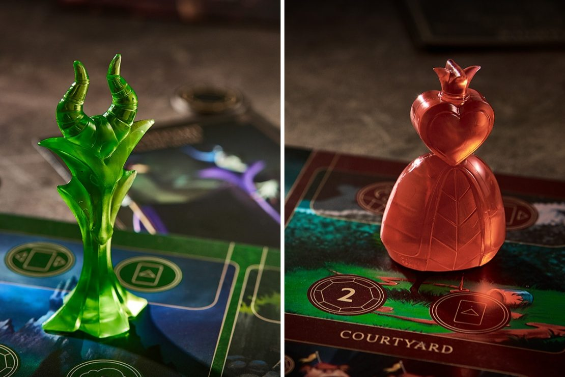 Disney Villainous Character Tokens: Maleficent and The Queen of Hearts