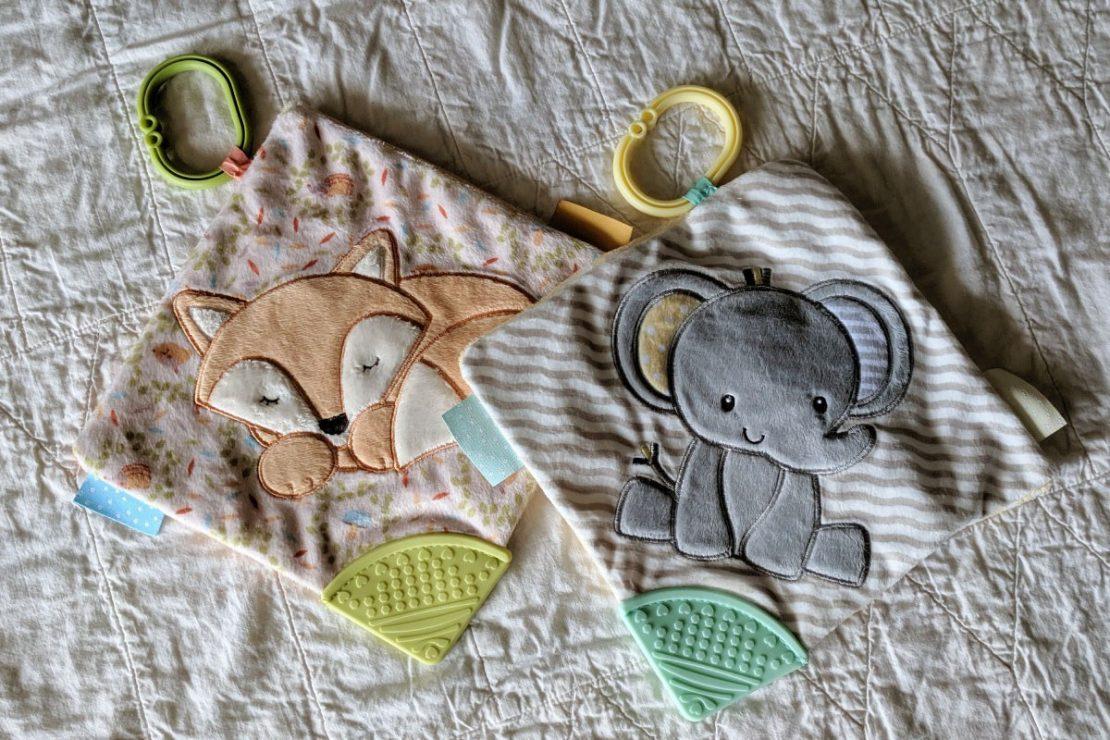 Douglas Baby Playtivity Blankies Fox & Elephant