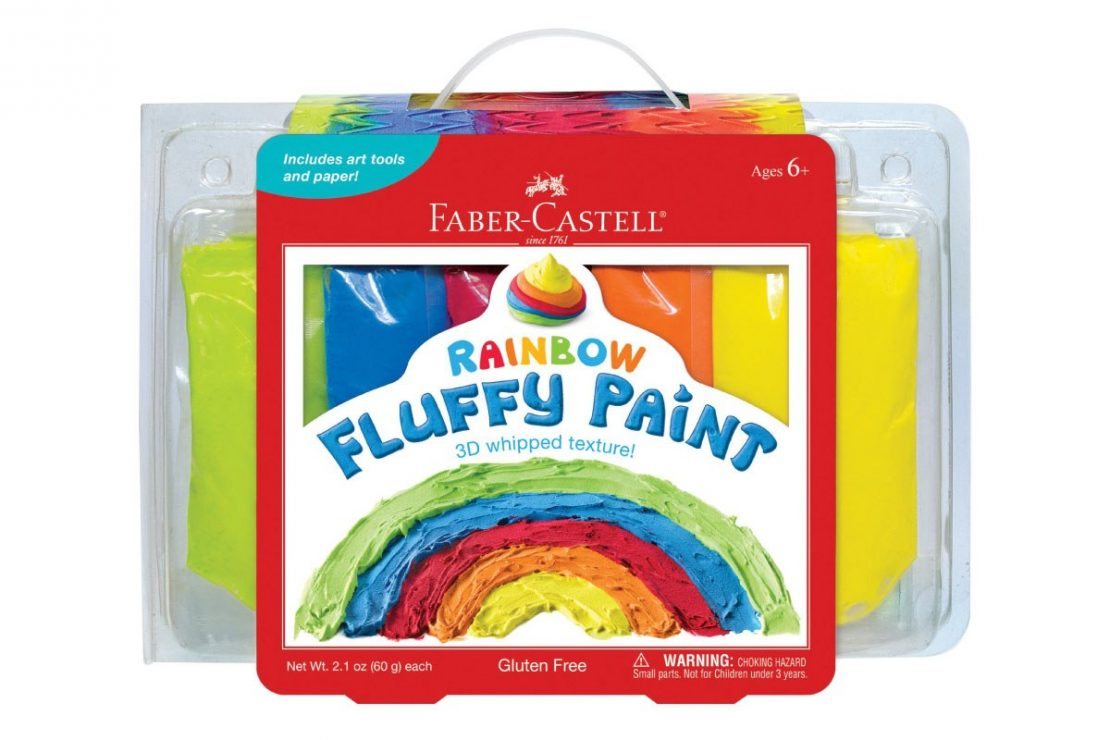 Young Artists' Rainbow Fluffy Paint Kit from Faber-Castell