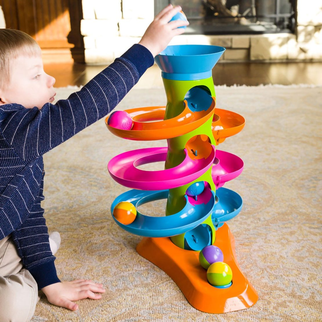 Roll Again Tower Fat Brain Toddler Toy