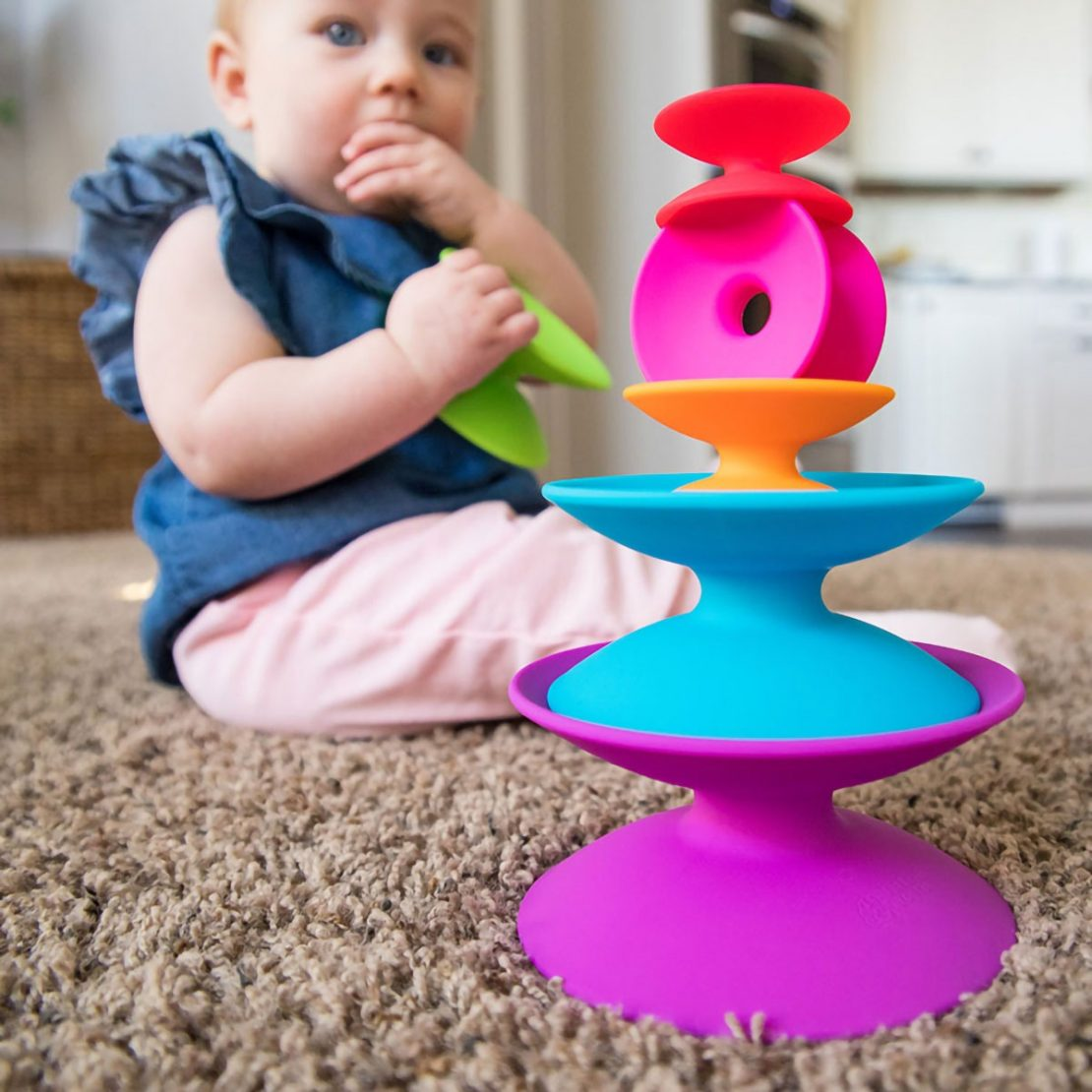Spoolz Stacking Fat Brain Toddler Toy