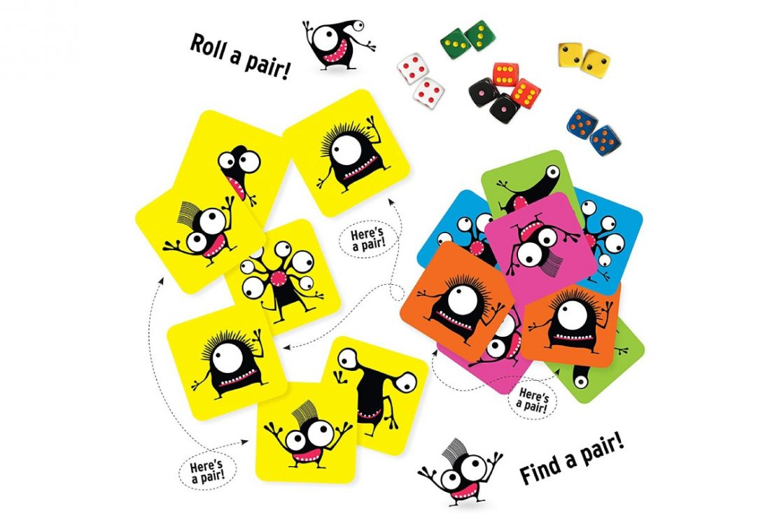 Pairzi Dice & Card Matching Game