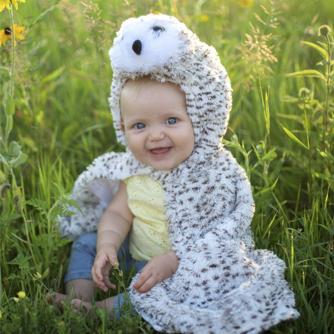 Great Pretenders Reversible Owl Baby Cape