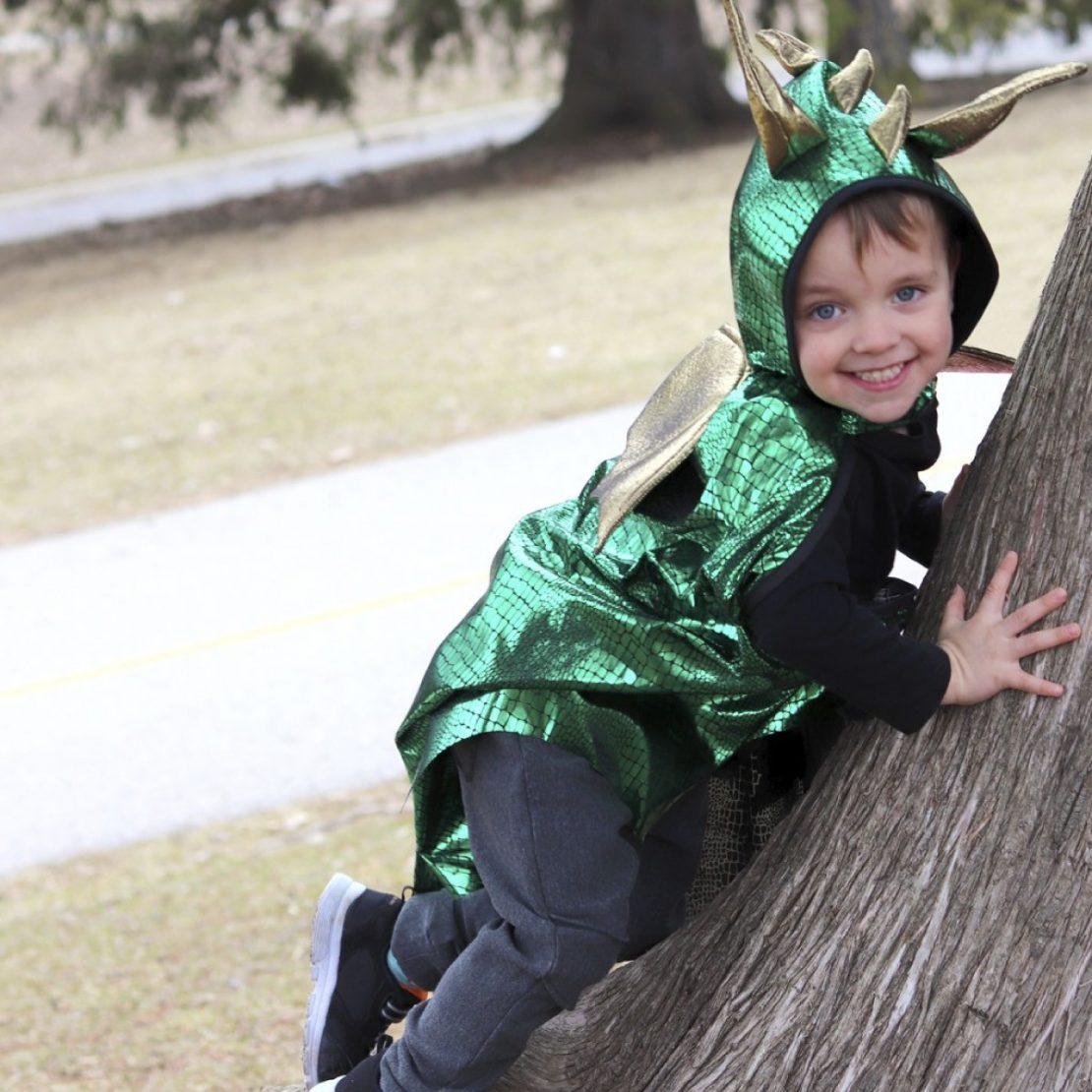 Great Pretenders Green Dragon Cape