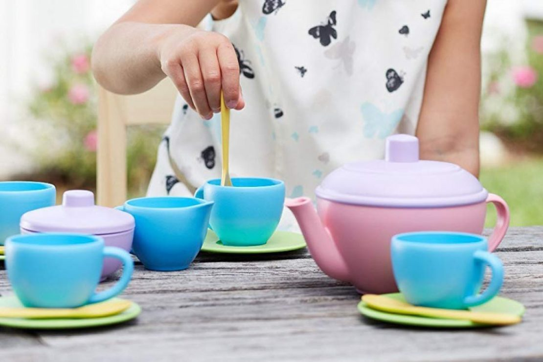 Green Toys Tea Set in Pink