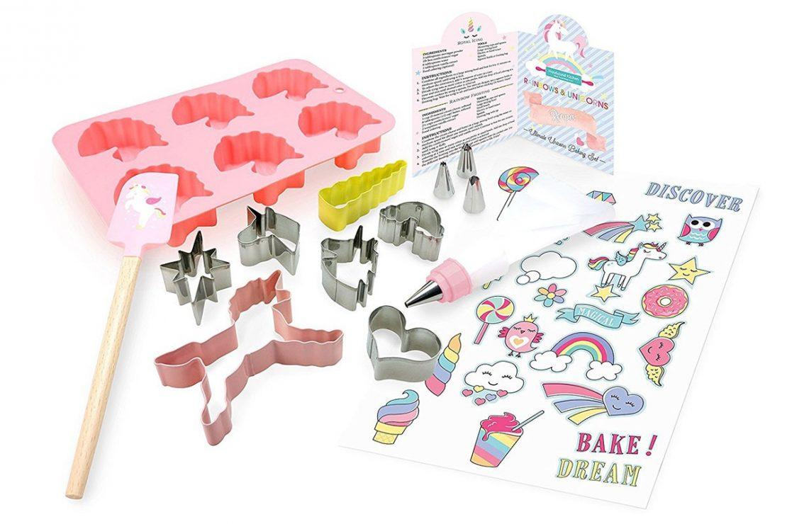 Handstand Kitchen Rainbow Unicorn Set Contents