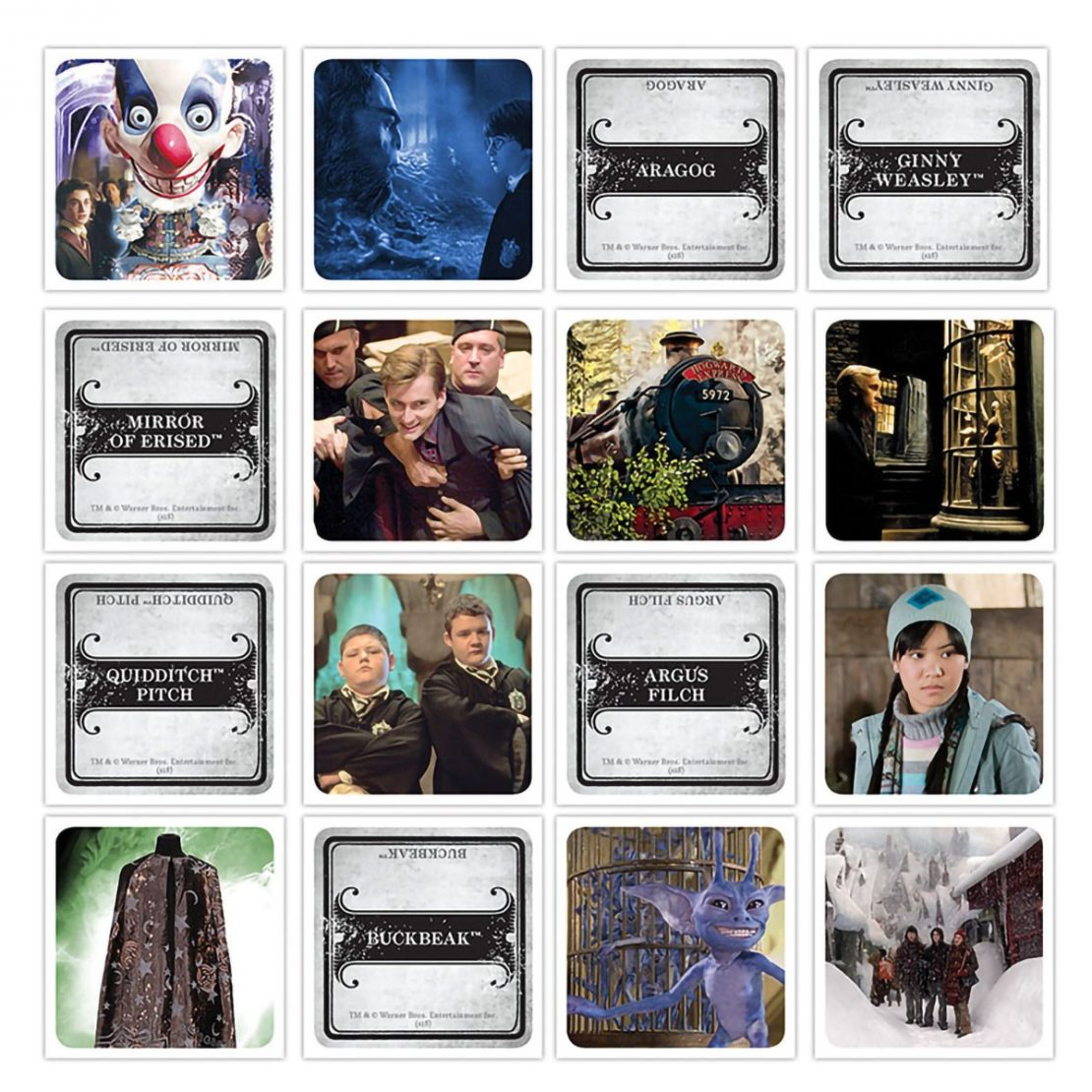 Harry Potter Codenames Cards