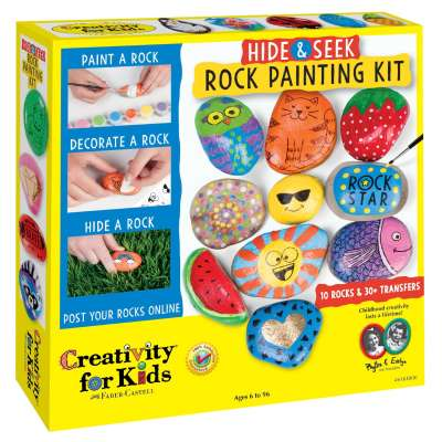 Hide & Seek Rock Painting Kit - from Creativity for Kids