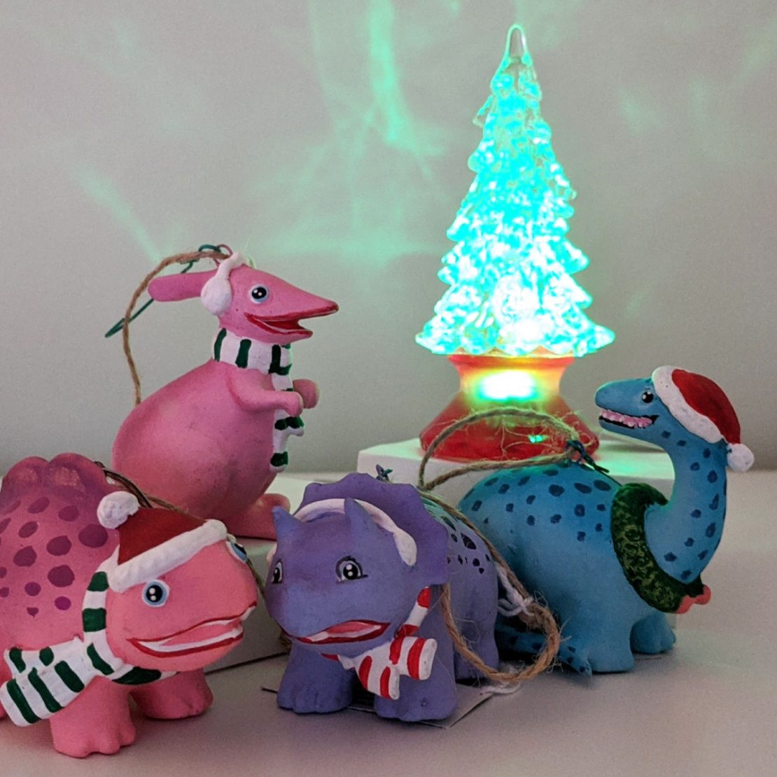Dinosaur Friends Holiday Ornaments
