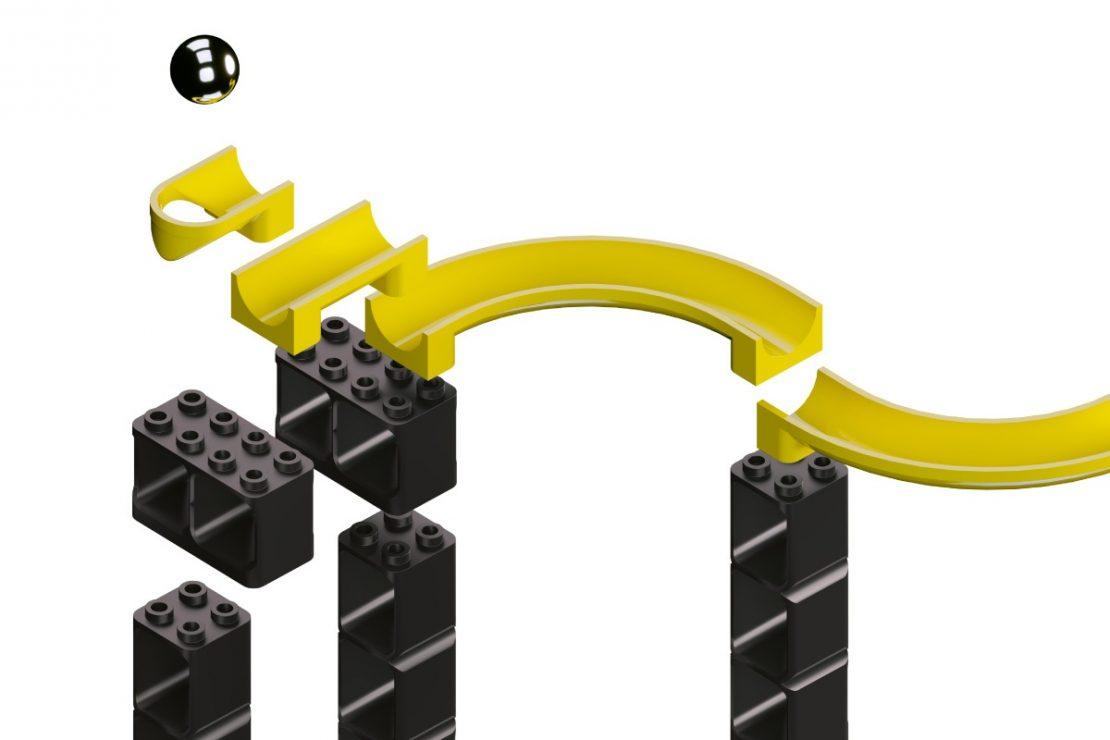 Hubelino Pi Marble Runs, Compatible with LEGO