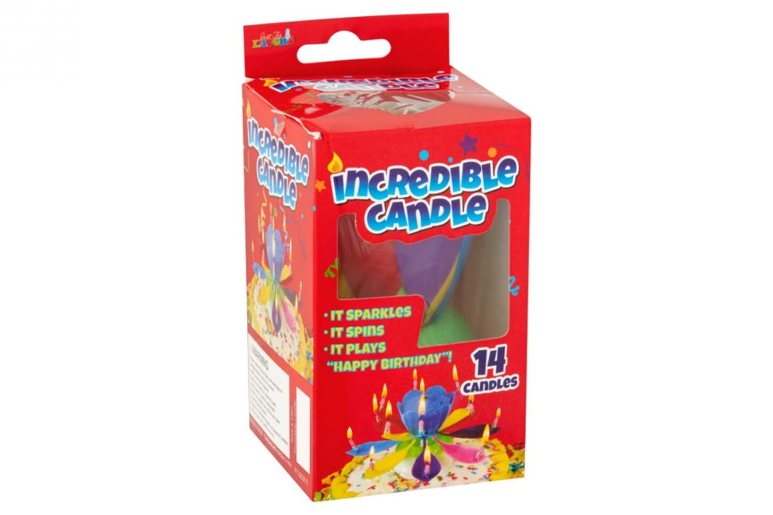 Just For Laughs Rainbow Incredible Candle