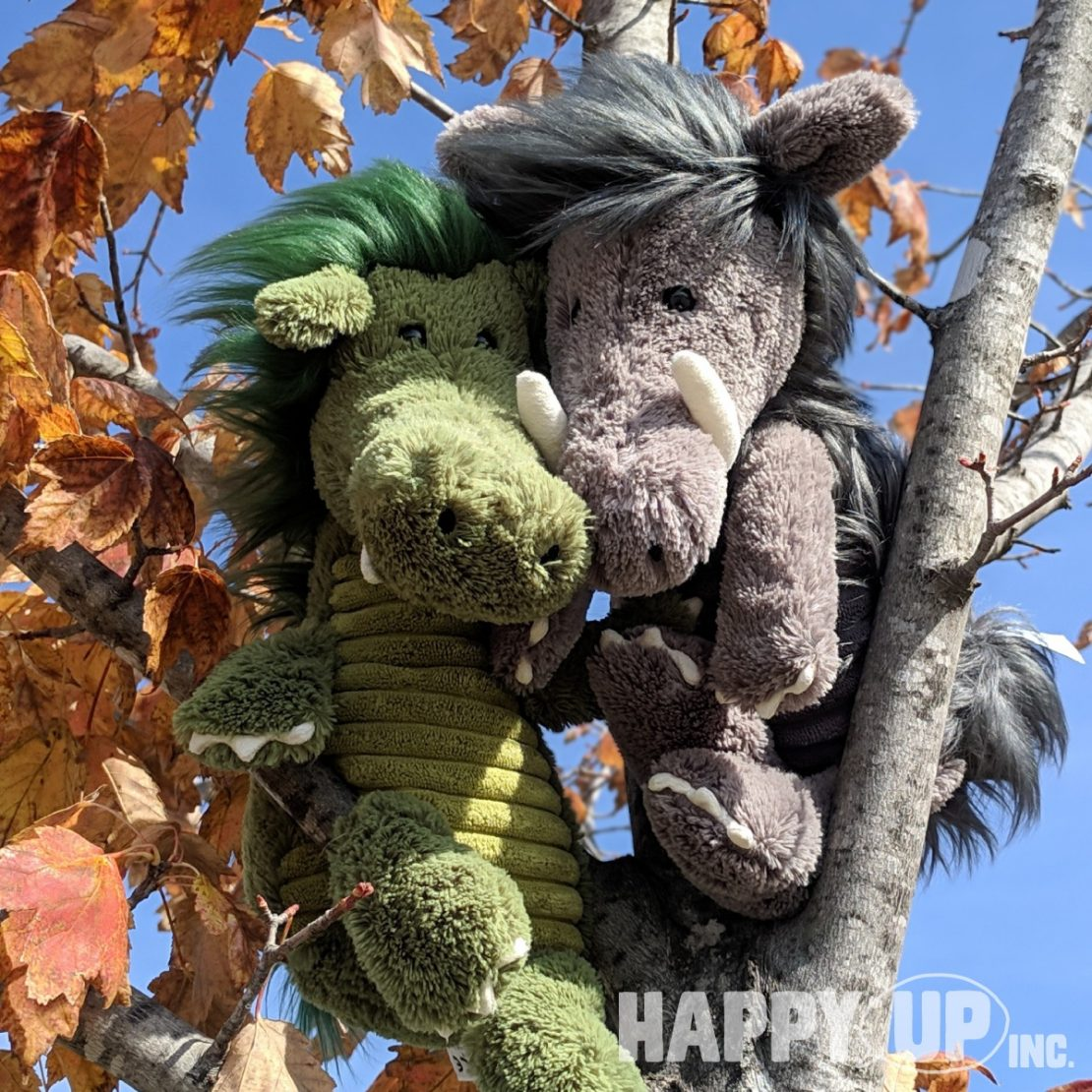 Jellycat Dragon and Warthog, BFFs