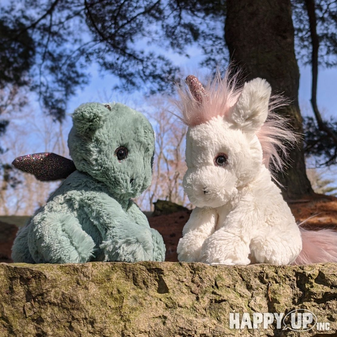 Jellycat Starry Eyed Dragon and Unicorn