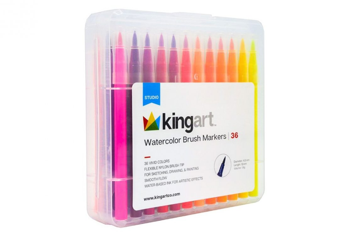 Kingart Watercolor Brush Markers