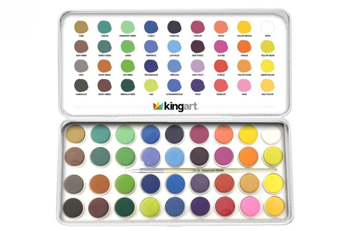 Kingart Watercolor Pan Set