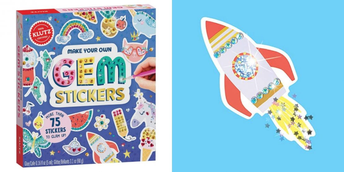 Make Your Own Gem Stickers from Klutz