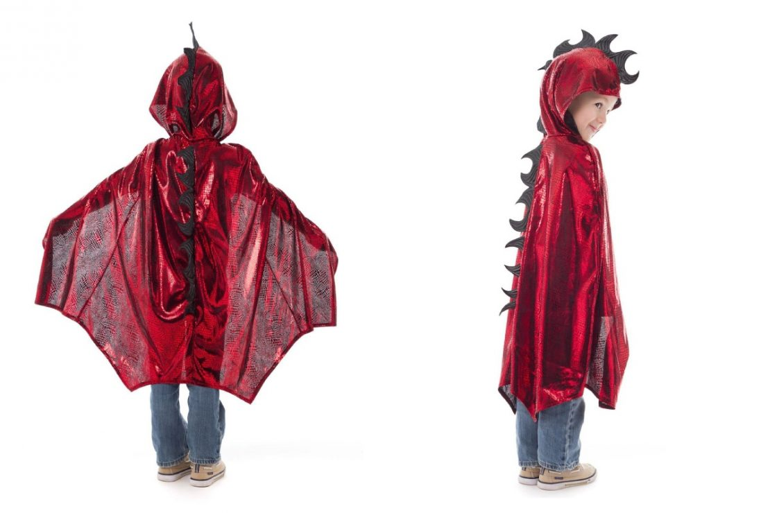 Little Adventures Dragon Cape in Red/Black