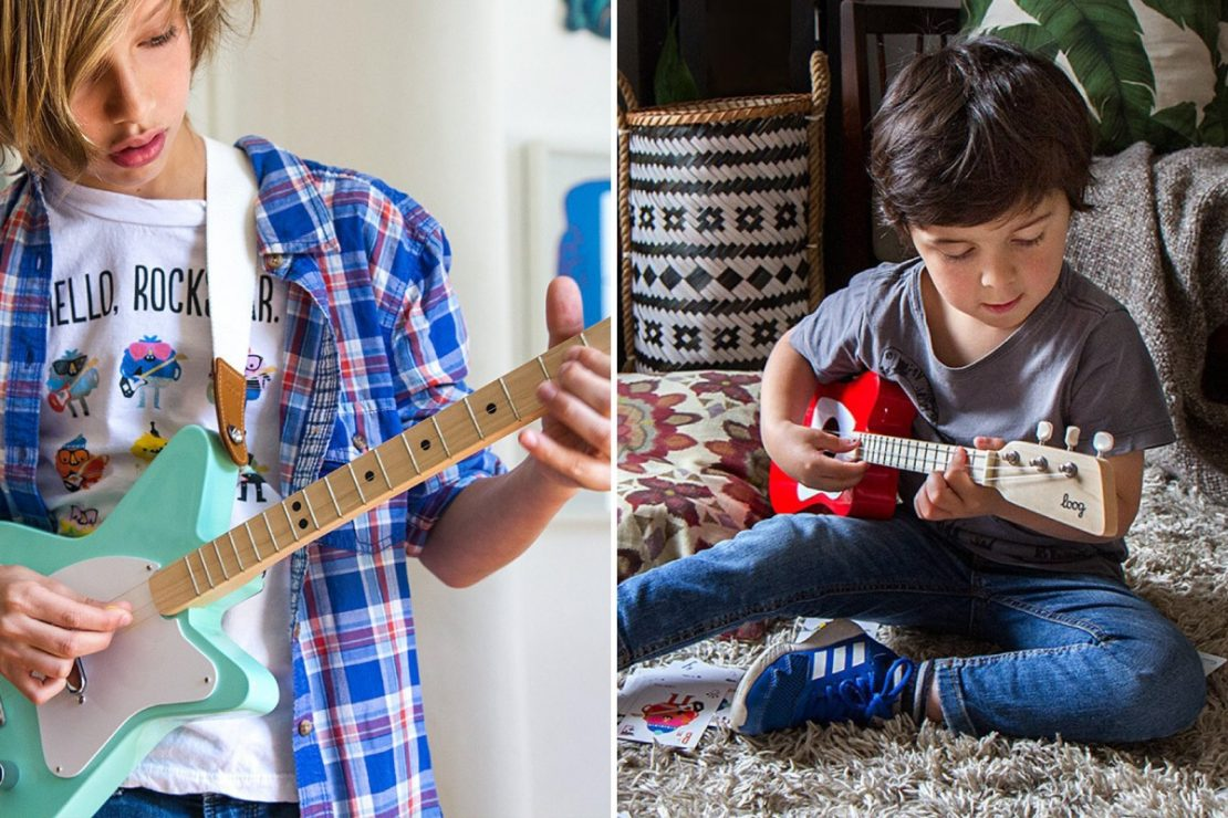 Loog Electric and Acoustic Guitars