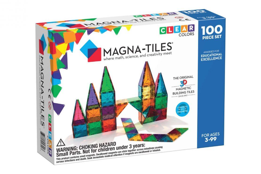 Magna-Tiles 100 Piece Clear Colors