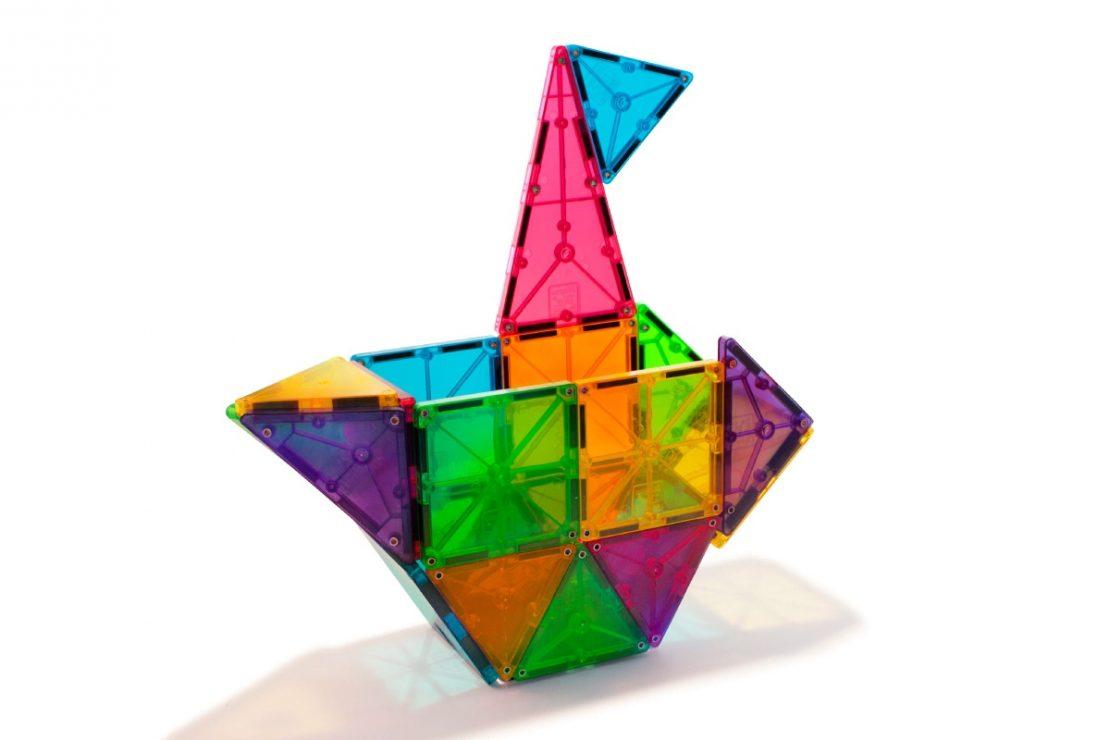Magna-Tiles 32 Piece Clear Colors