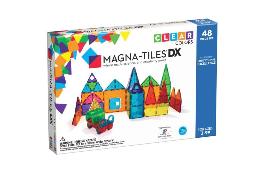 Magna-Tiles DX 48 Piece Clear Colors