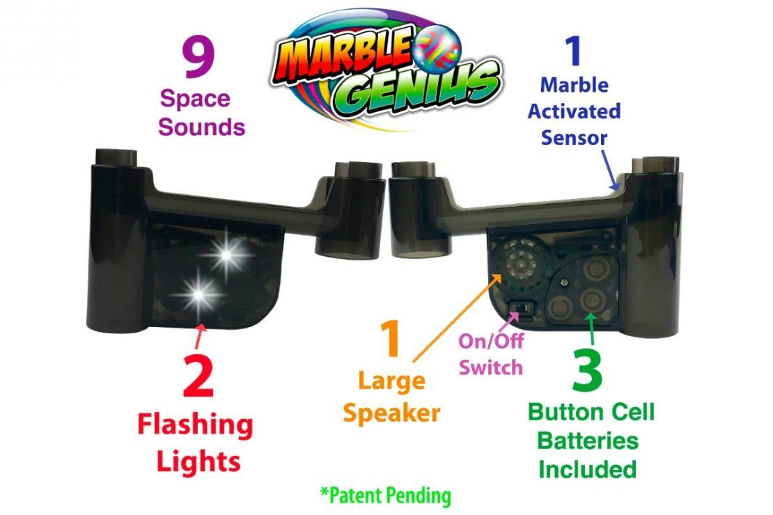 Marble Genius Space Lights & Sounds Diagram