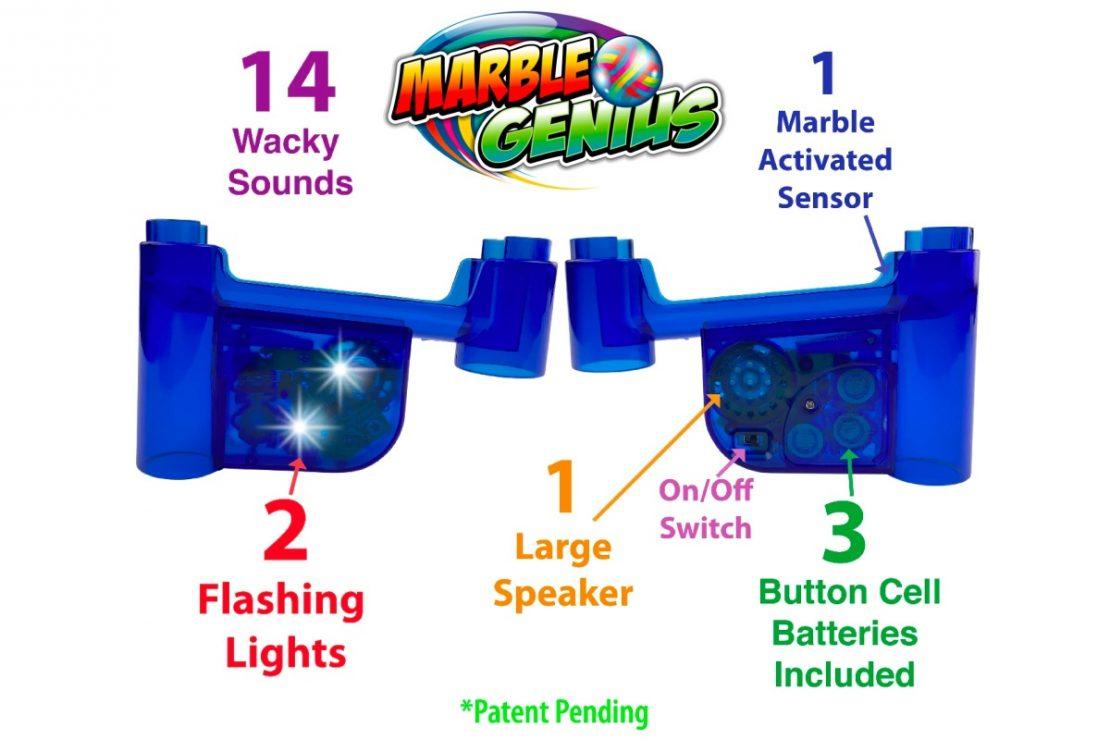 Marble Genius Wacky Lights & Sounds Diagram