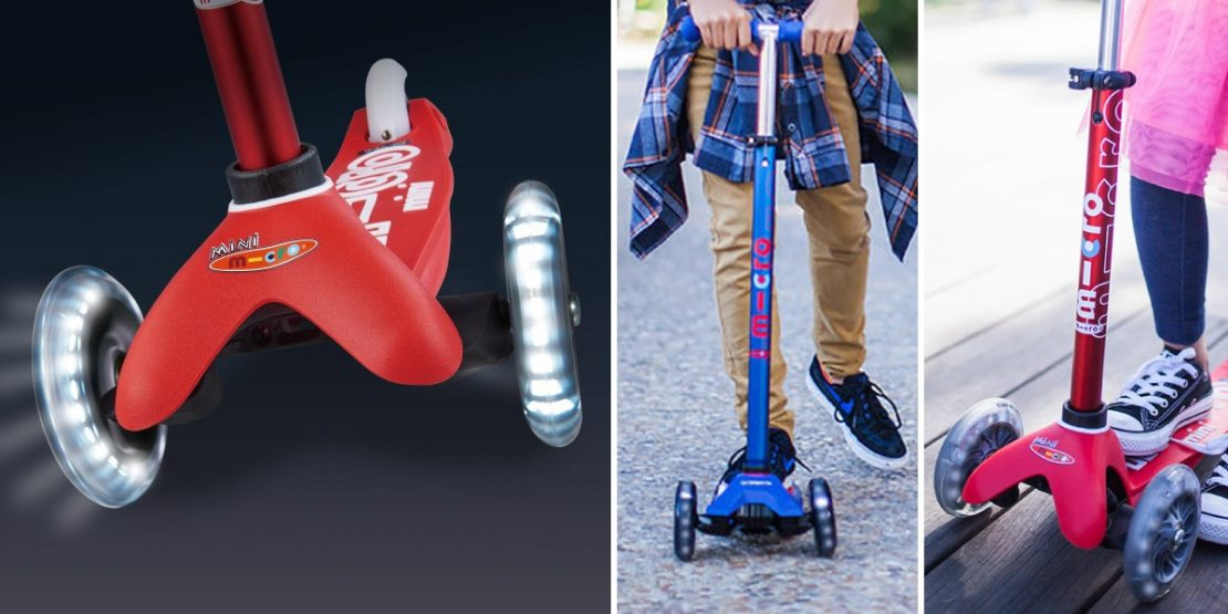 New! Micro Kickboard Scooters with LED lighted wheels!